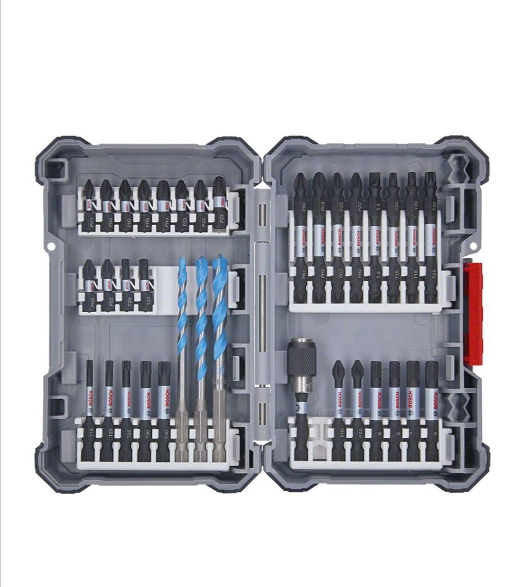 [Prime] Set d'Embouts Bosch Professional - 35 Pièces (Pick and Click, Accessoires Compatible Visseuses à Chocs
