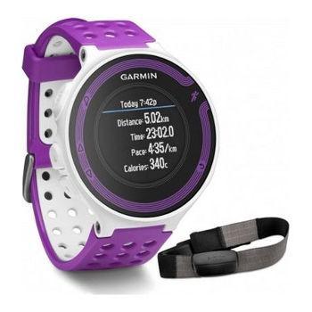 Montre Running GPS Garmin Forerunner 220 HRM (blanc / violet)