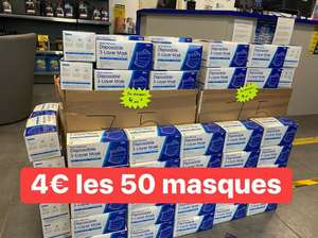 Boite de 50 masques non médicaux - Vulco Creutzwald (57)