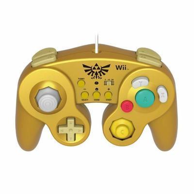 Manette gold Zelda compatible Wii et Wii U