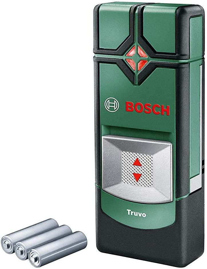 [Prime] Détecteur de matériaux Bosch Truvo - Livré avec 3 Piles AAA, profondeur de Détection Maxi : 70 Mm