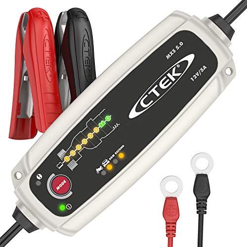 [Prime] Chargeur de batterie voiture automatique Ctek MXS 5.0 - Charge, Maintient et Reconditionne les Batteries Auto/Moto