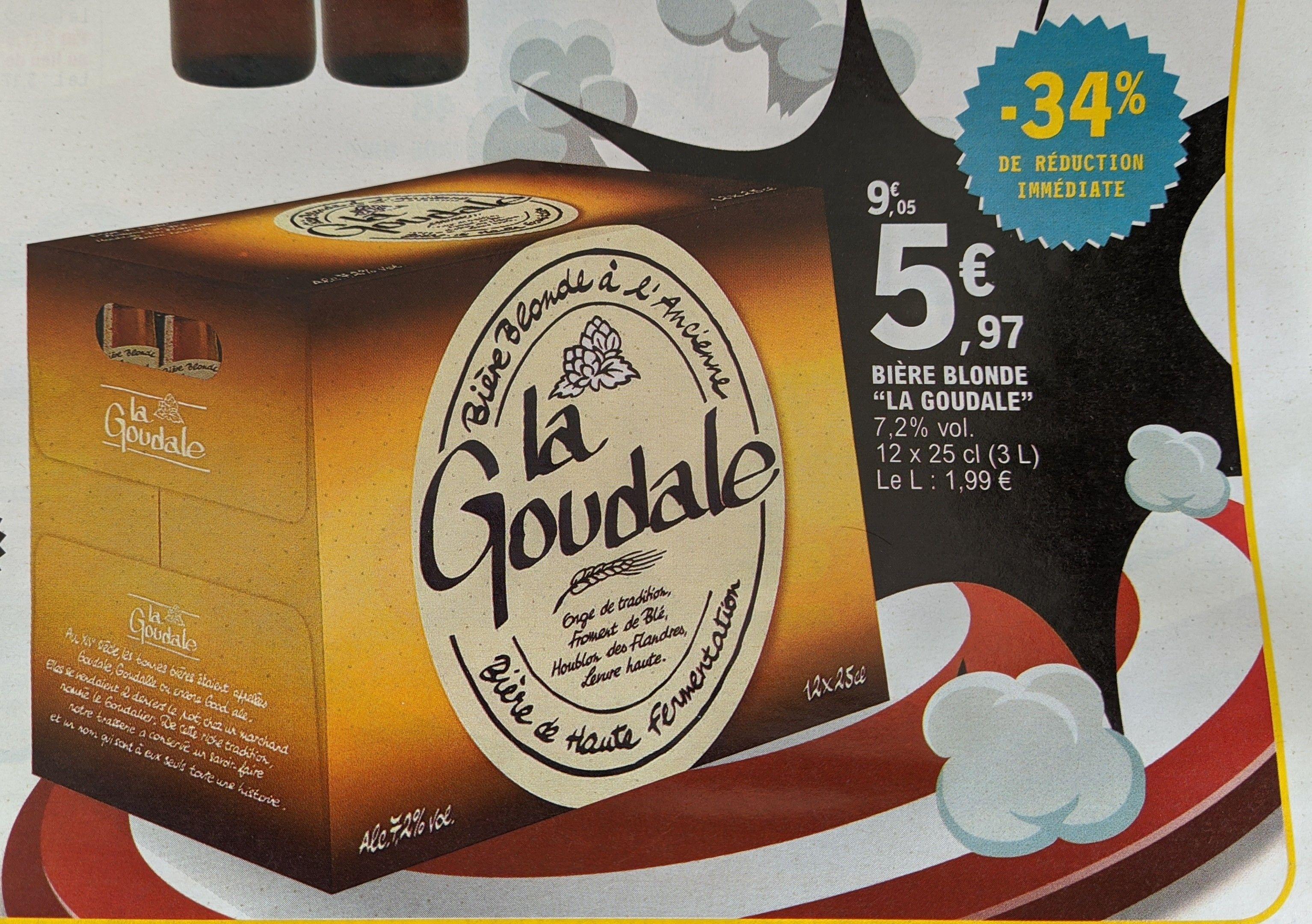 Pack de 12 Bières blondes La goudale - 12 x 25cl