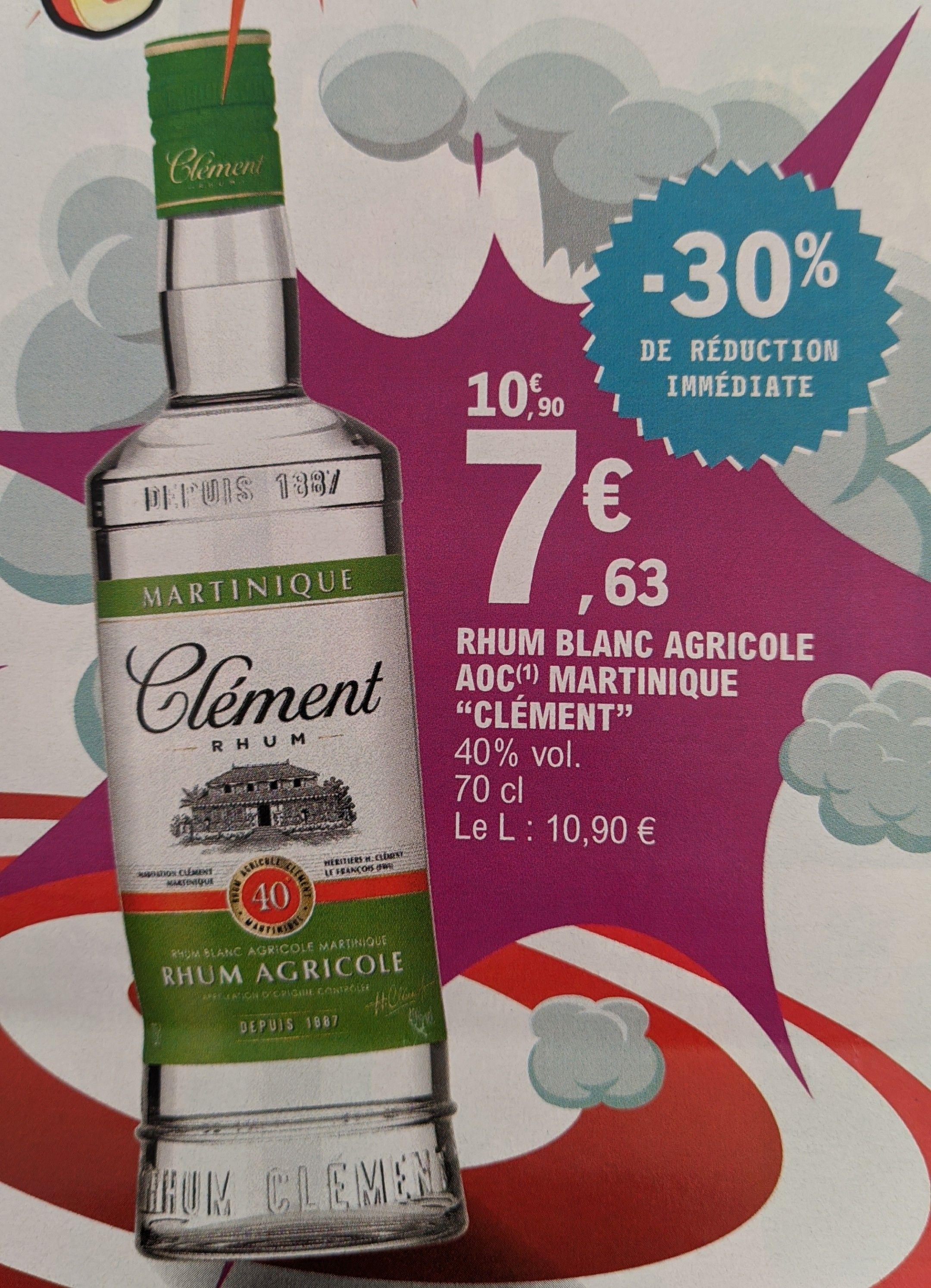 Bouteille de Rhum blanc agricole Martinique Clément - 70cl