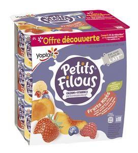 Paquet de 18 Petits Filous Yoplait - 18x50g (via 0.68€ fidélité)