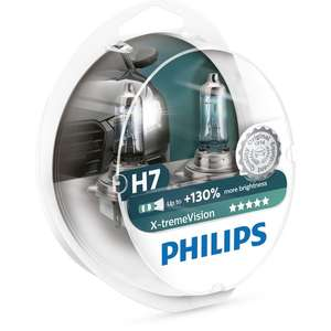 Lot 2 Ampoules Philips H7 X-tremeVision - 60/55W, 12V