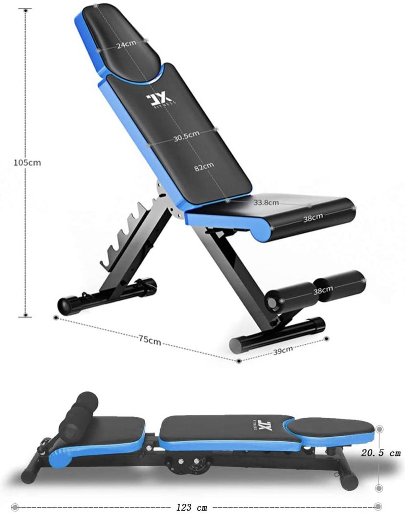 [Prime] Banc de musculation Pliable JX fitness (Vendeur Tiers)