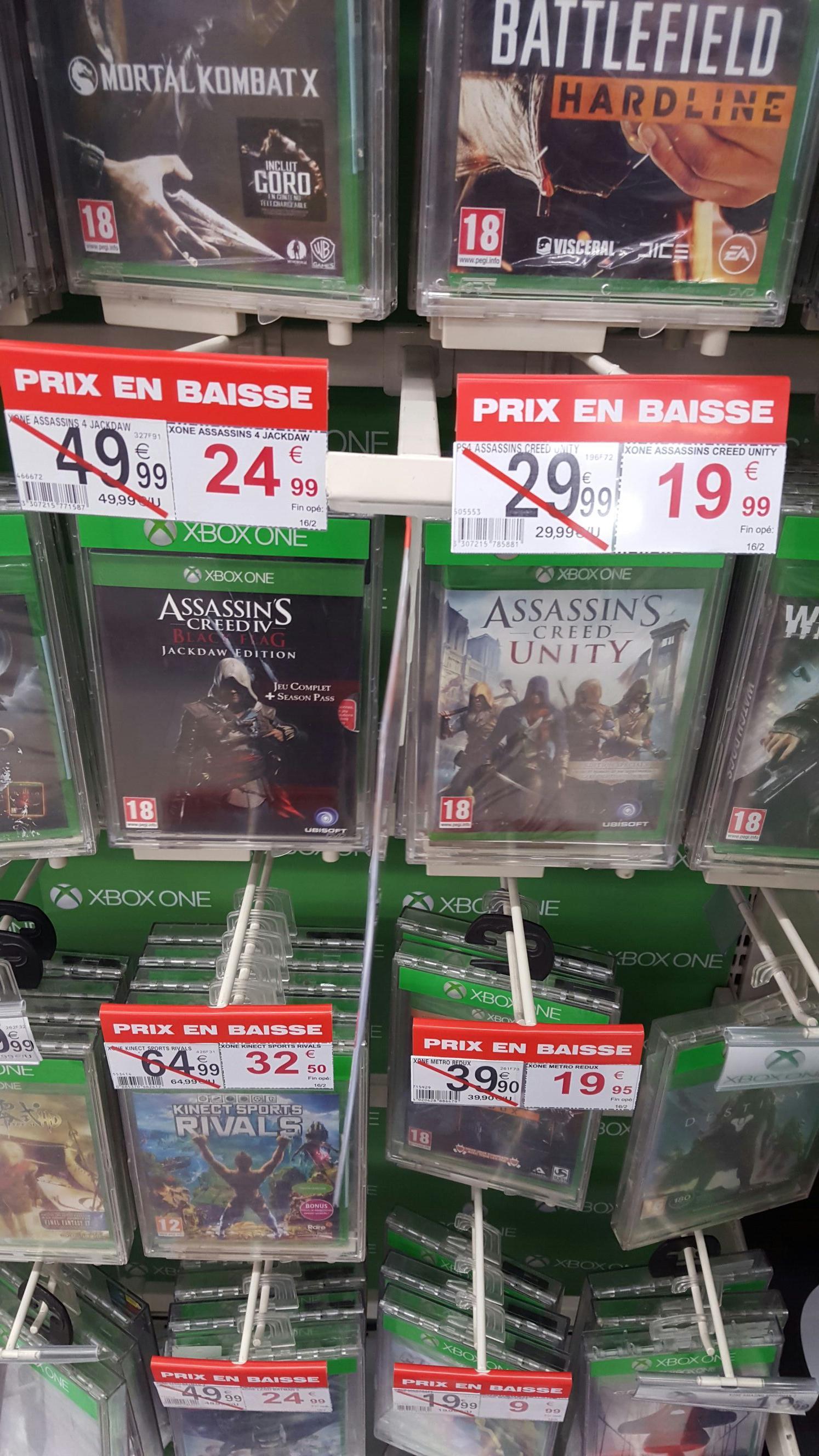 Jeux Assassin Creed sur Xbox One :Unity à 19.99€