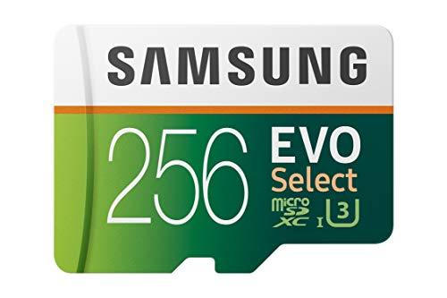 [Prime US] Carte microSDXC Samsung Evo Select - 256Go, Classe 10, U3 (Frais d'importation inclus)