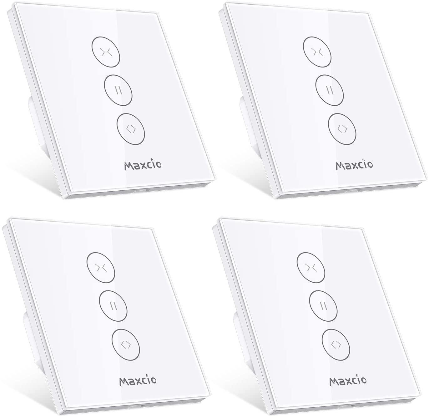 [Prime] Lot de 4 Interrupteurs Connectés Maxcio pour Volets Roulants - WiFi, Compatibles Alexa (Vendeur Tiers)