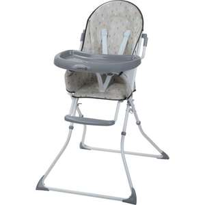 """Chaise haute Safety 1st """"Kanji"""" - Grise, Pliable, Dès 6 mois"""