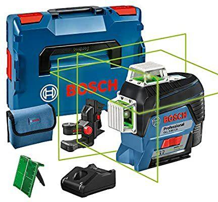 [Prime IT] Laser lignes 3 plans Bosch Professional Professional GLL 3-80 CG - 1 Batterie 12V, L-BOXX