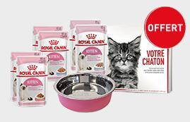 Kit chaton Royal Canin: Une gamelle + 6 Sachets offert en magasin