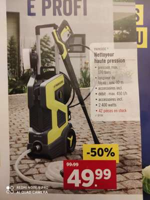 Nettoyeur haute pression Parkside - Lidl Differdange (Frontaliers Luxembourg)