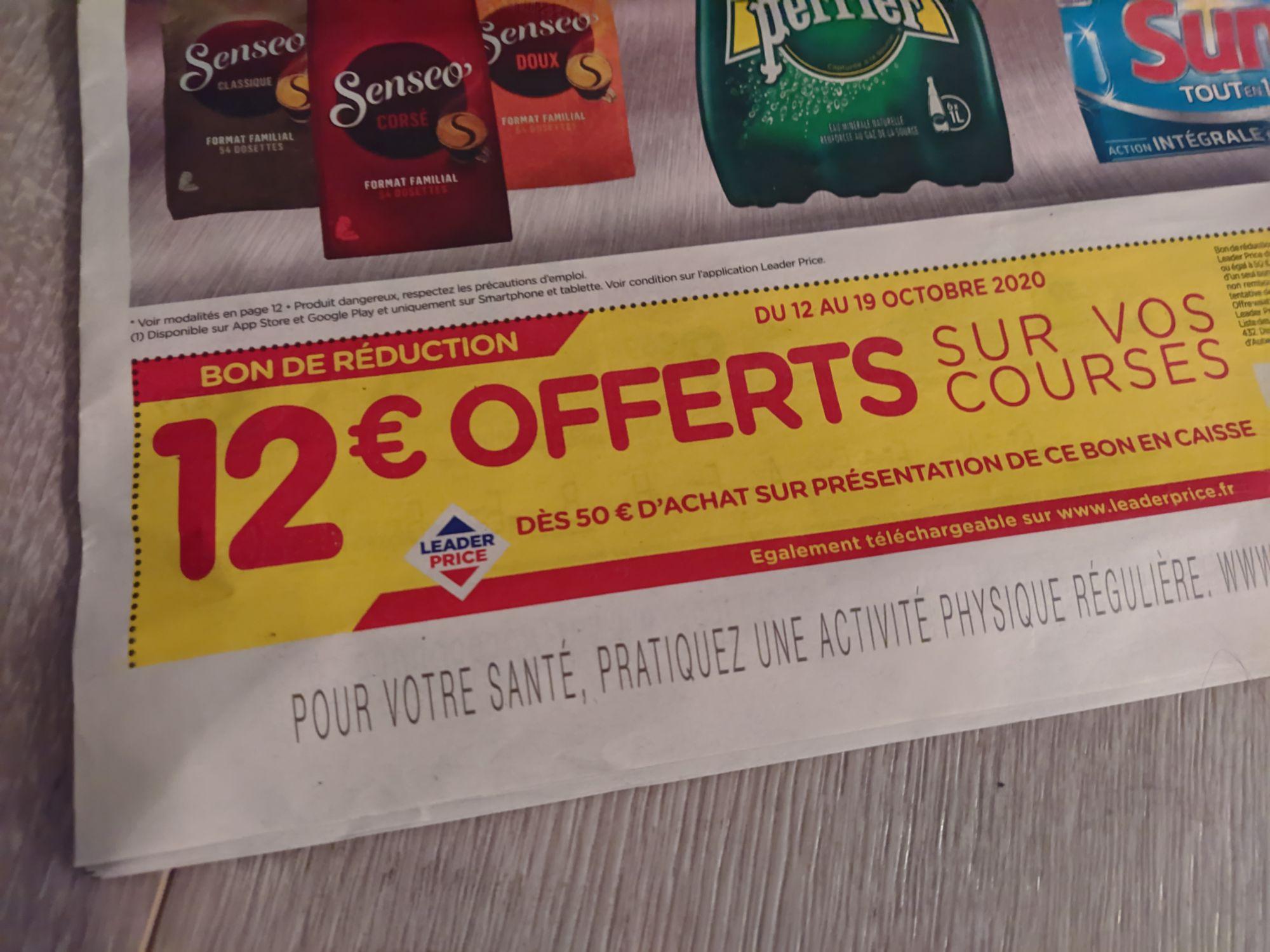 12 De Reduction Des 50 D Achat Selection De Magasins Leader Price Dealabs Com