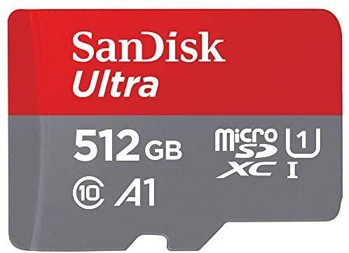 Carte Mémoire Sandisk MicroSDXC Ultra 512Go + Adaptateur SD