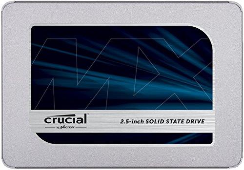 """SSD interne 2.5"""" Crucial MX500 (TLC 3D, DRAM) - 250 Go"""