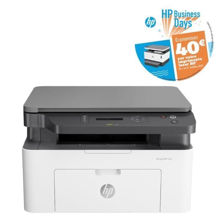 Imprimante Laser Monochrome Multifonction HP Laserjet MFP 135a - Pas de Wifi (ODR de 40€) + 6 mois Spotify Premium offerts pour les CDAV