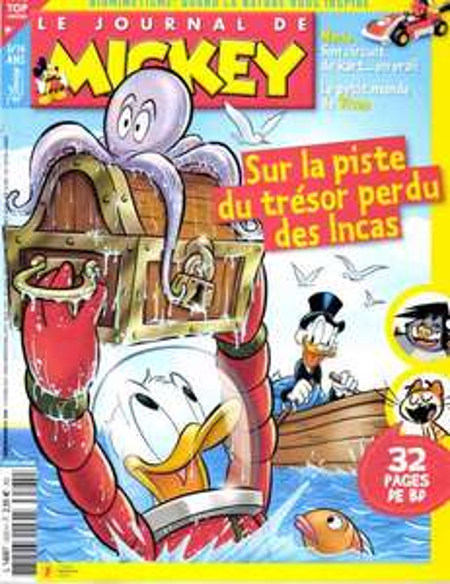 25€ de réduction sur divers abonnements presse - Ex: Abonnement de 7 mois au Journal de Mickey (30numéros)