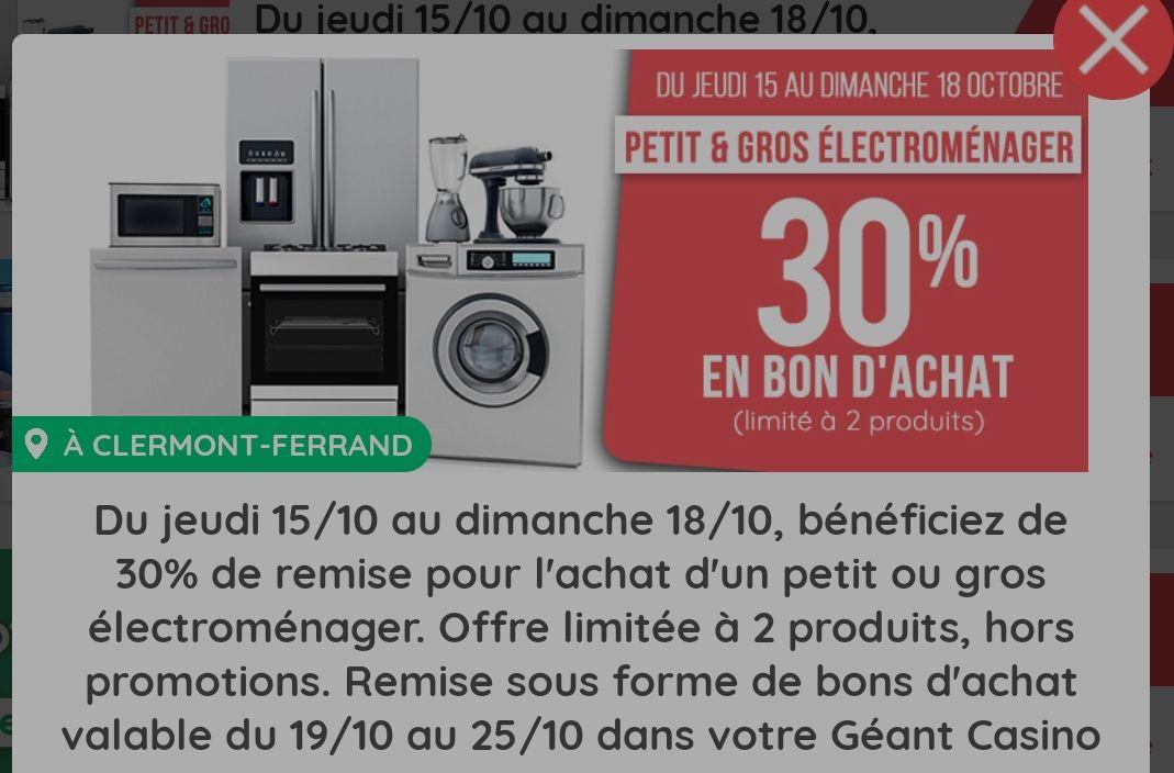 [Casinomax] 30% offerts en bon d'achat sur le petit et le gros électroménager