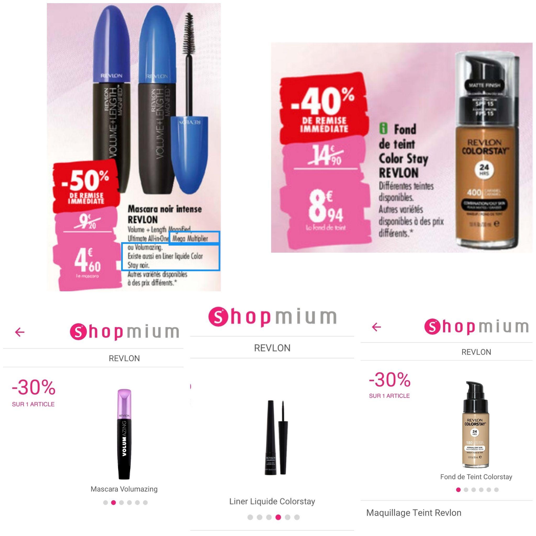 Sélection de maquillages Revlon en promotion (via Shopmium) - Ex : eye-liner Revlon Exactify Intense Black