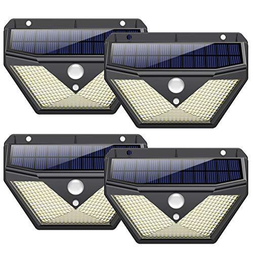 Lot de 4 lampes solaires IP65 - 136 LED, 1400lm (Vendeur tiers)