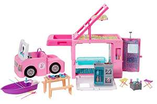 Barbie Mobilier Camping-Car de Rêve 3-en-1