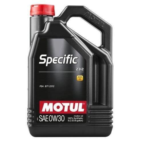 Huile moteur Motul Specific 2312 0W30, 100% Synthèse pour Essence/Diesel - 5L