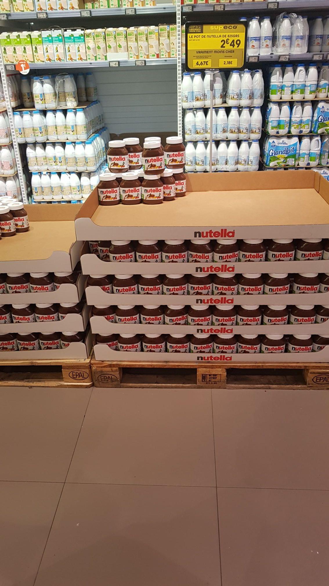 Pot de pâte à tartiner Nutella 825gr - supeco Valenciennes (59)