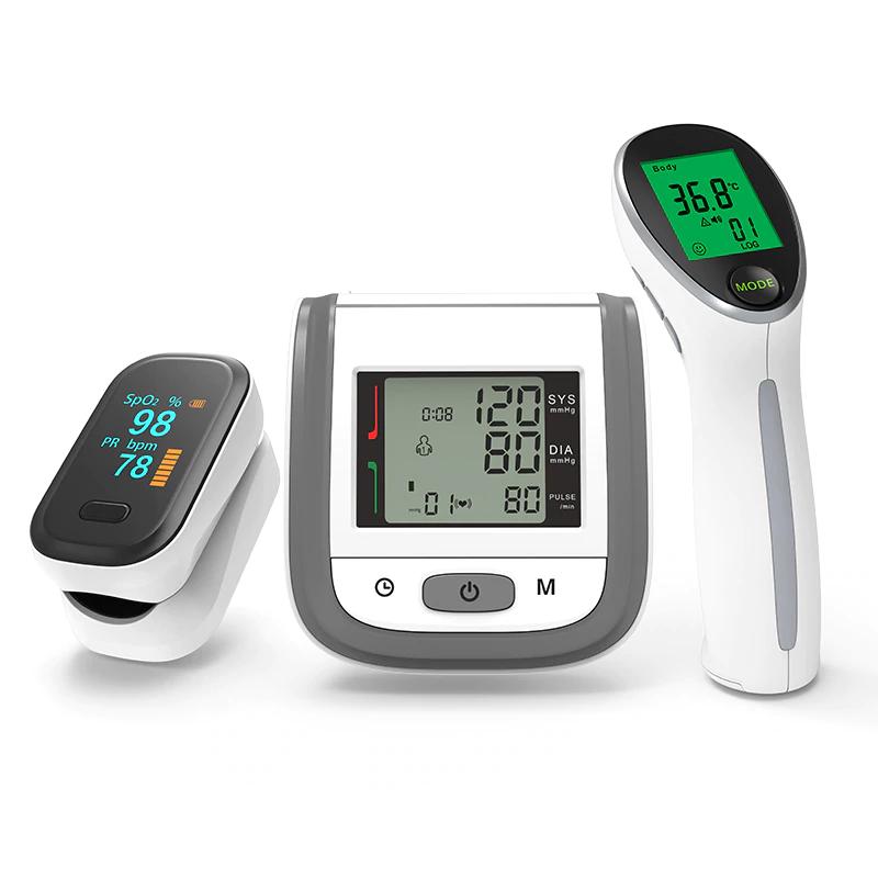 Set d'outils de santé Boxym - thermomètre infrarouge IRT2 + tensiomètre de poignet BPW1 + oxymètre de pouls du bout des doigts oFit2