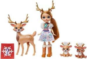 Figurines Enchantimals Famille avec mini-poupée Rainey Renne