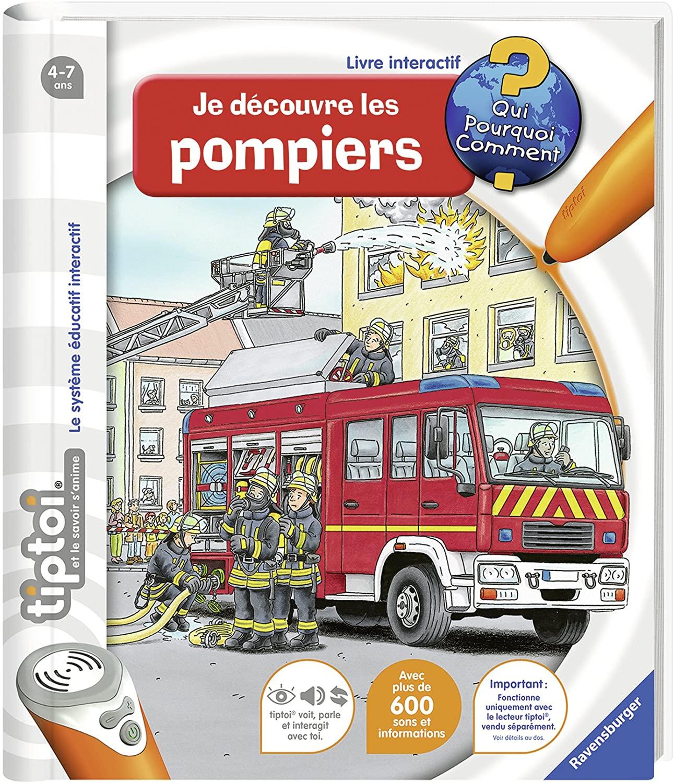 Livre interactif Ravensburger Tiptoi - Je découvre les pompiers
