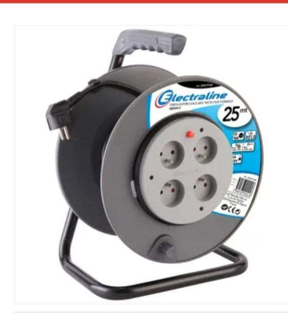 Enrouleur électrique bricolage Electraline ho5vvf 3g1.5, avec terre - 25 m