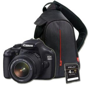 Appareil photo CANON EOS 1100D + 18-55 IS + carte SD 4 Go + Sac à dos