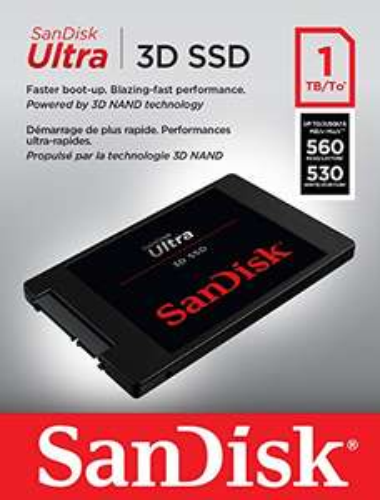 "SSD interne 2.5"" SanDisk SSD Ultra 3D (TLC 3D, DRAM) - 1 To"