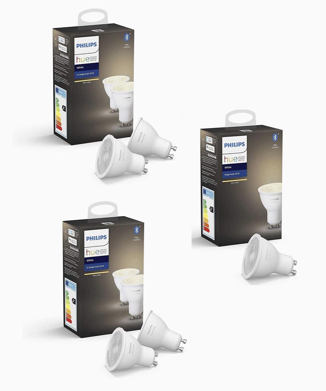 Pack de 5 ampoules Philips Hue GU10 White (vendeurs tiers)