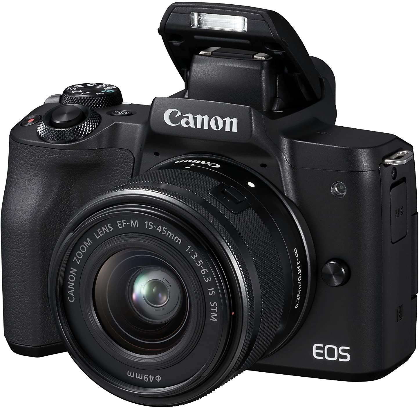 Appareil Photo Hybride Canon EOS M50 + Objectif EF-M 15-45 mm F/3.5-6.3 STM Noir
