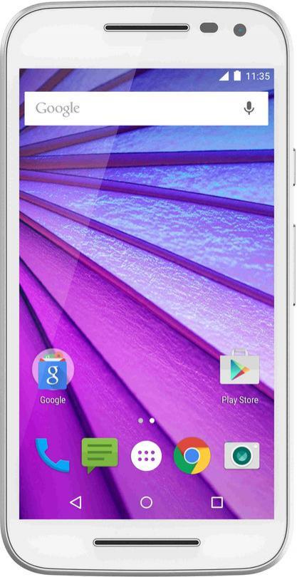 """Smartphone 5"""" Motorola Moto G (3ème génération) - Blanc, ROM 8 Go, RAM 1 Go"""