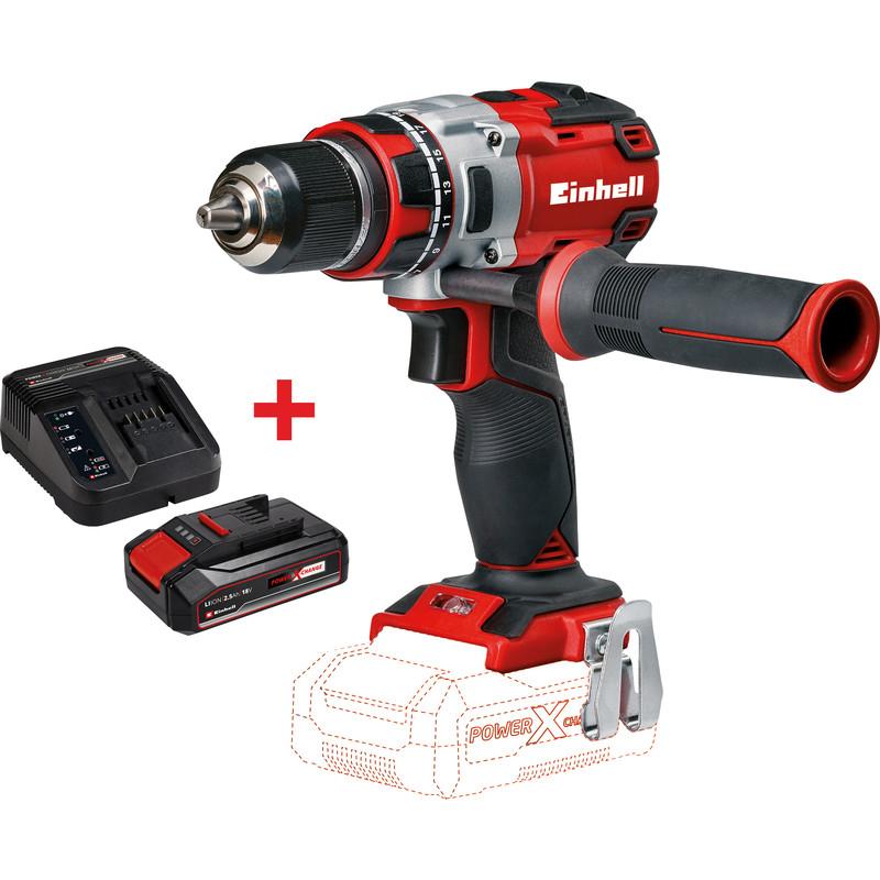 1 Chargeur + 1 batterie 2.5Ah offerts pour l'achat d'un outil sans-fil, exemple : Perceuse visseuse sans fil Einhell TE-CD 18 Li