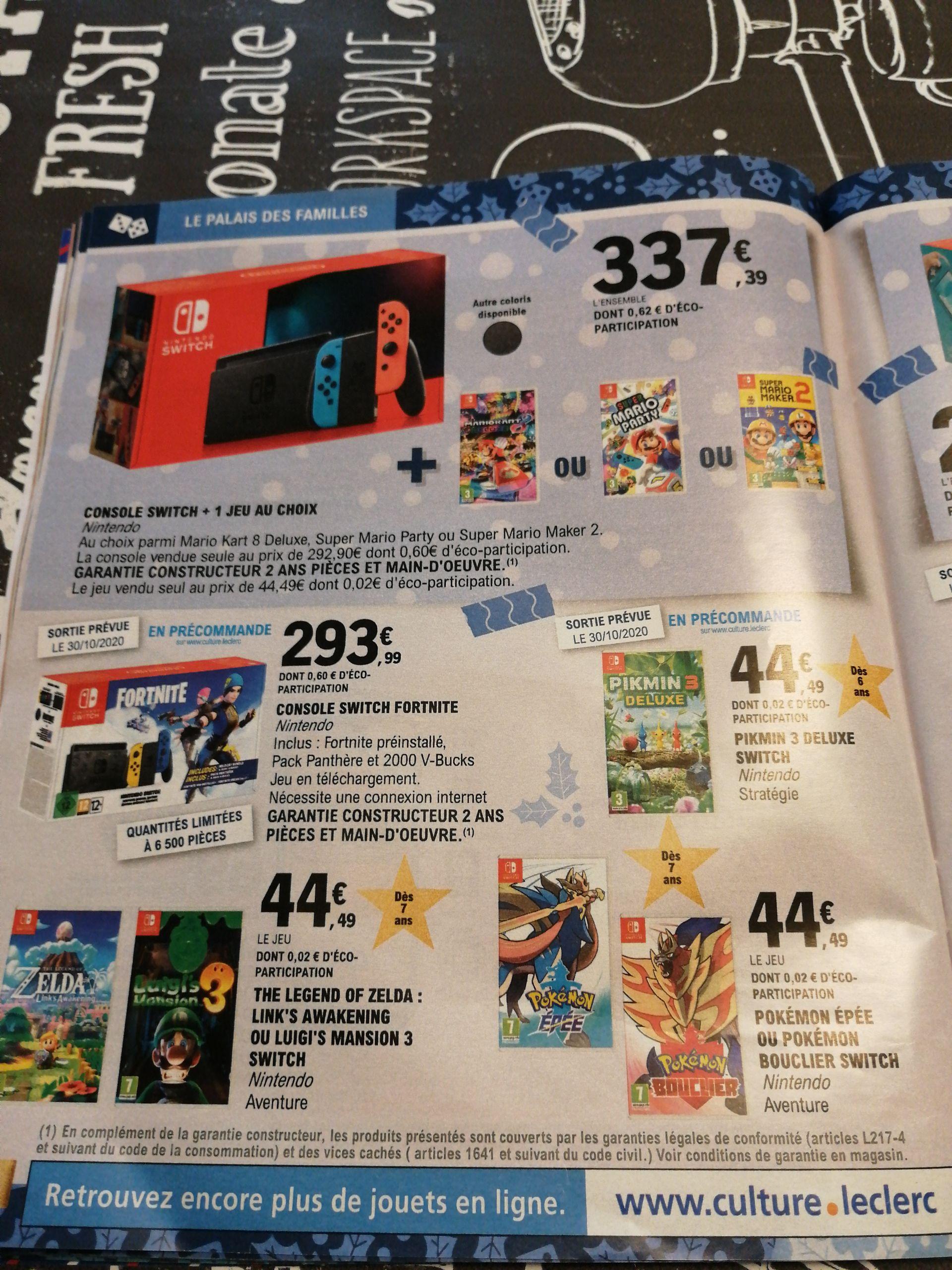 Console Nintendo Switch + 1 jeu au choix parmi une sélection - Loison sous Lens (62)