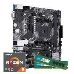 Kit upgrade AMD Ryzen 3 Pro 4350G + 2 x 4 Go de RAM (3200MHz) + Carte Mère ASUS Prime A520M-K (arlt.com)