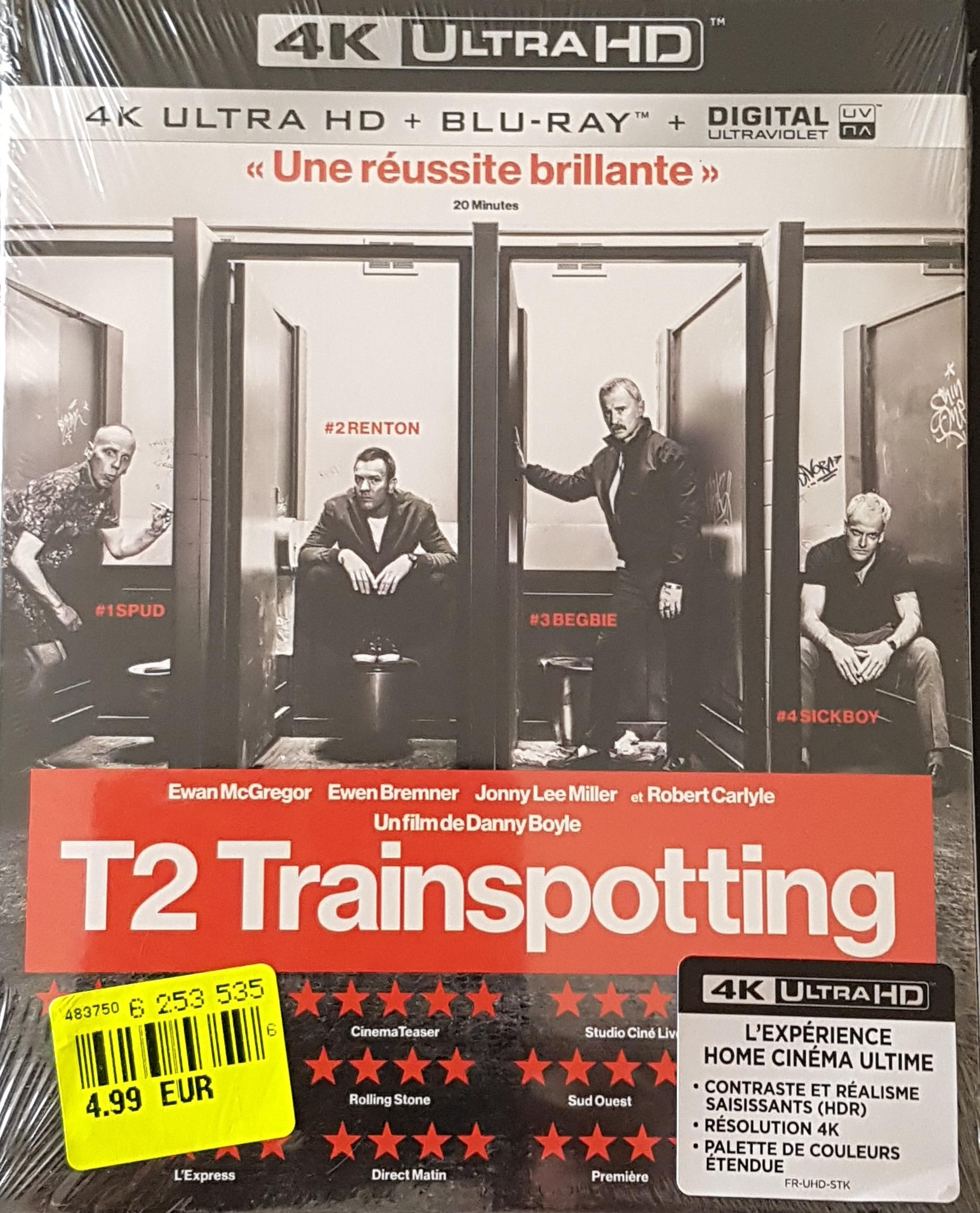 Sélection de Blu-ray en promotion - Ex : Blu-ray 4K UHD Trainspotting 2 - Clisson (44)