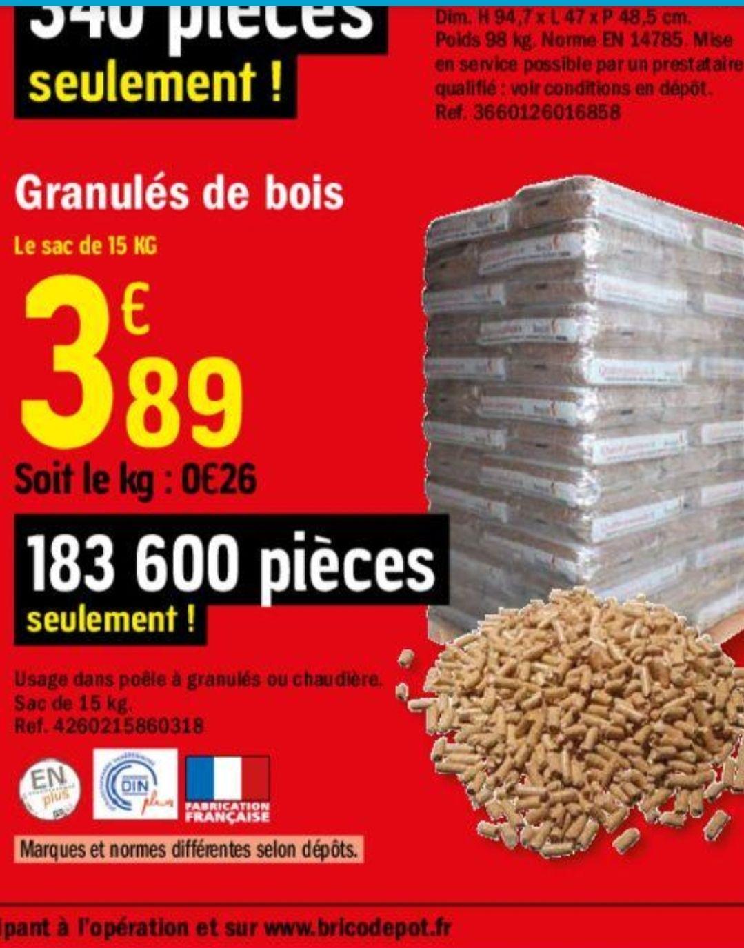 Sac de Granulé din+ 15 Kg