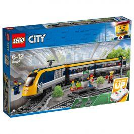 Jeu de construction Lego City : Le train de passagers télécommandé n°60197