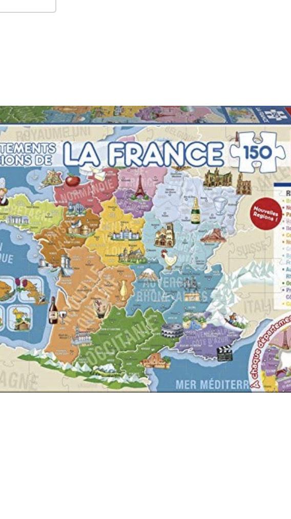 Puzzle éducatif La France : 150 Départements Et Régions