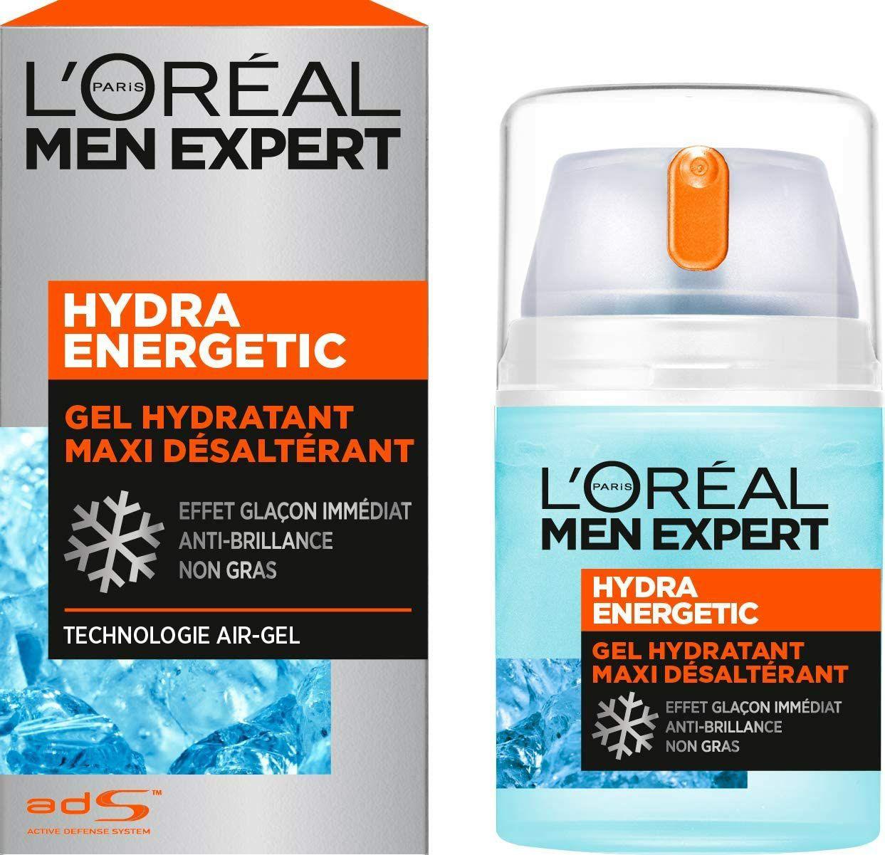 [Abonnement Economisez en vous abonnant] Gel Hydra Energetic Homme L'Oréal Men Expert - Hydra Power - 50 ml