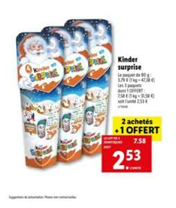 Lot de 3 paquets de Kinder Surprise - 3 x 80g