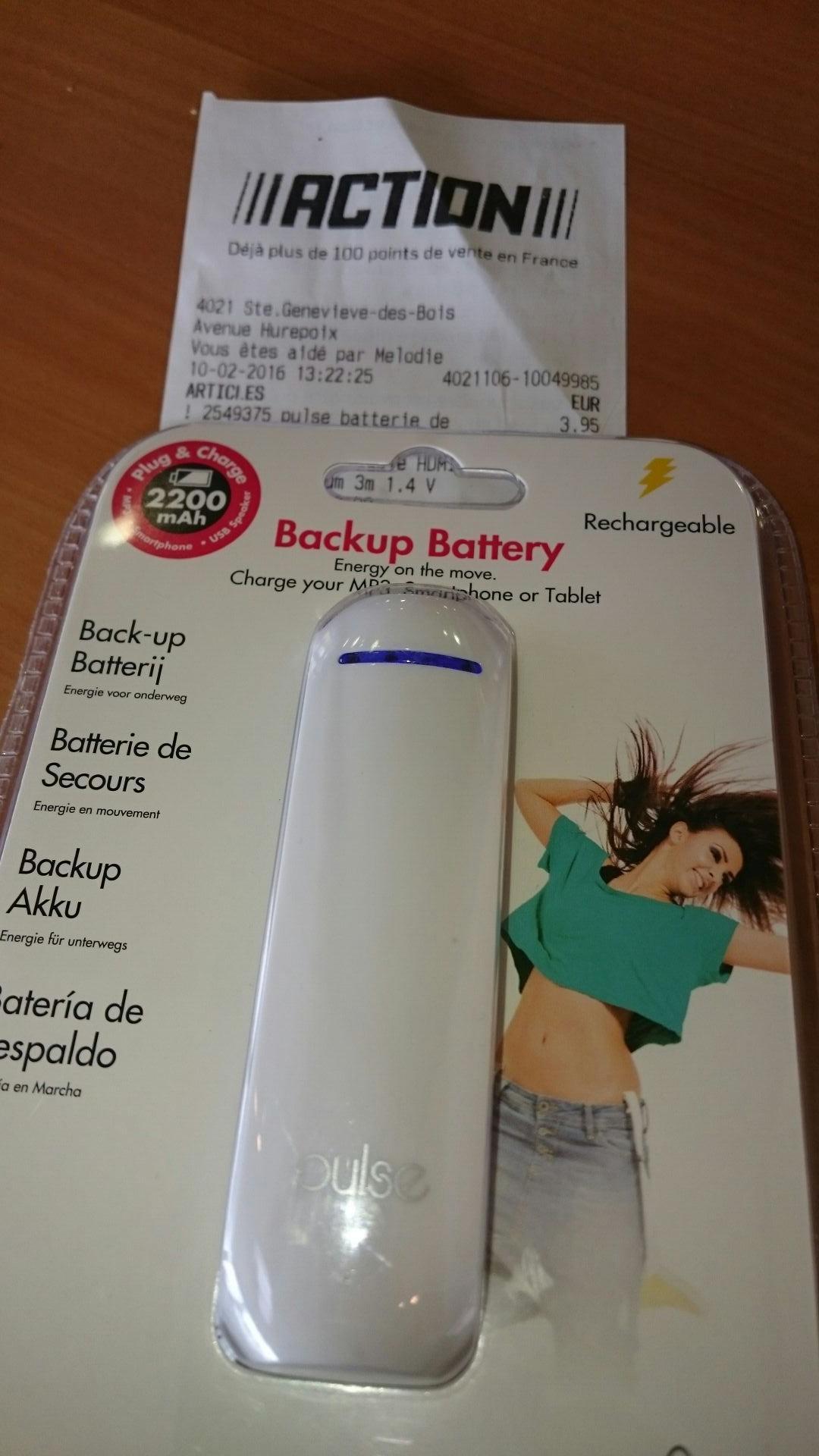 Batterie externe Pulse 2200mAh