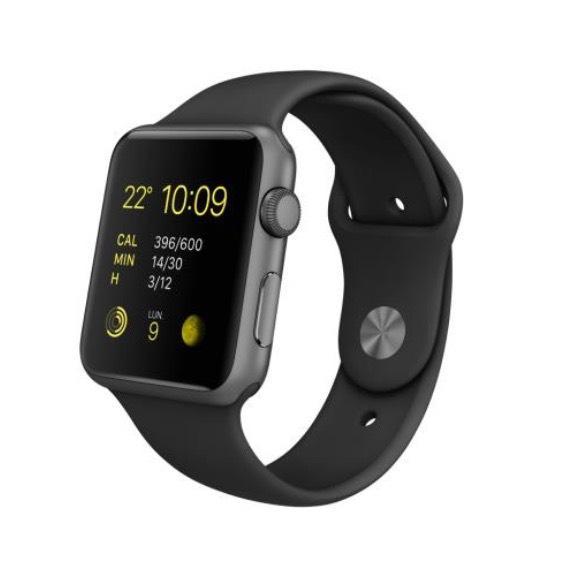 [Adhérents] Montre connectée Apple Watch Sport 42 mm - Aluminium, bracelet Sport, Noir (+40€ sur la carte)