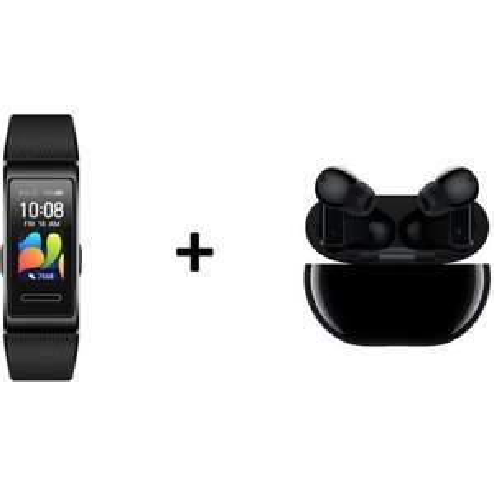 Ecouteurs sans-fil bluetooth Huawei Freebuds Pro 2020 (Noir ou Blanc) + Bracelet connecté Huawei Band 4 Pro